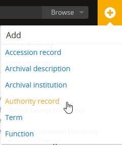 Authority records | Documentation (Version 2 3 1) | AtoM