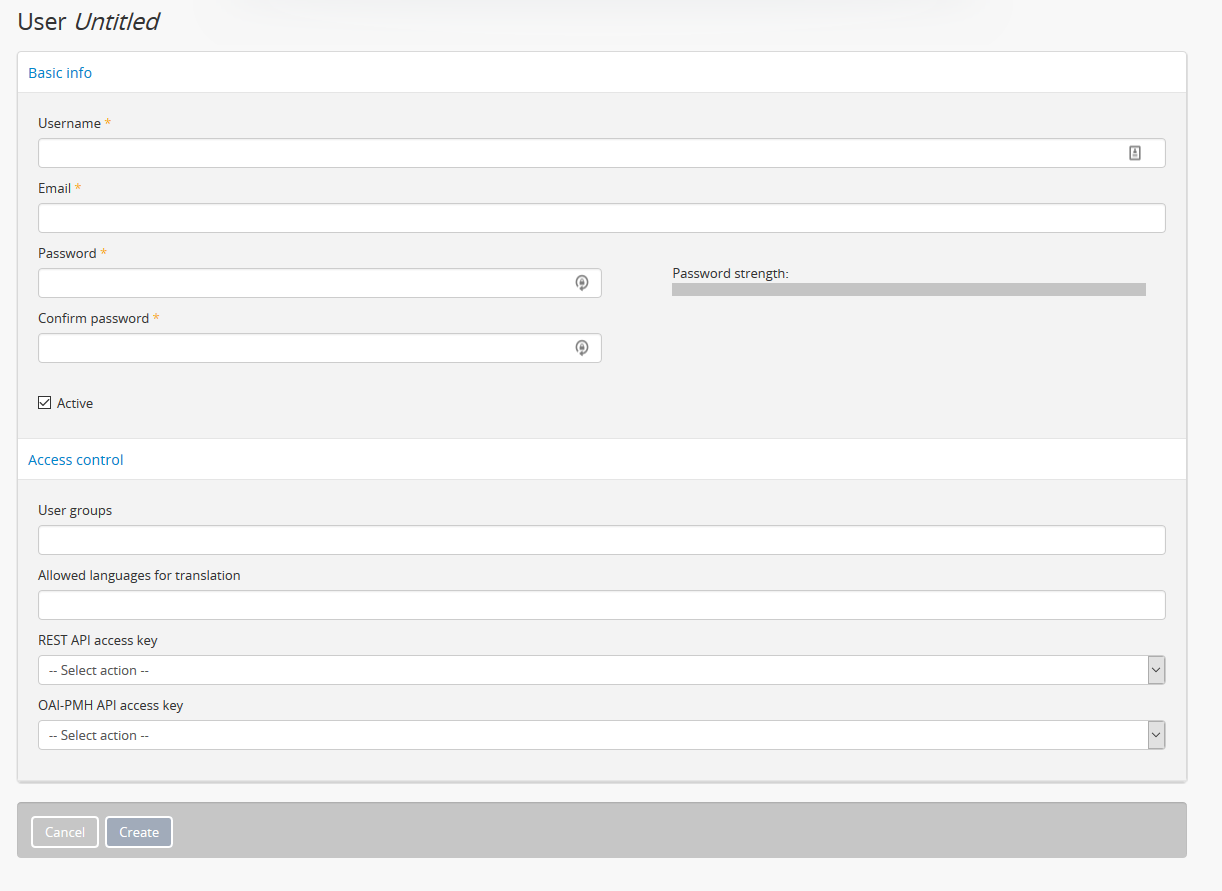 Manage user accounts and user groups   Documentation (Version 2 4