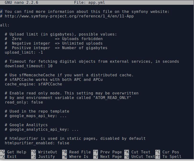 Manage AtoM configuration files | Documentation (Version 2 4) | AtoM