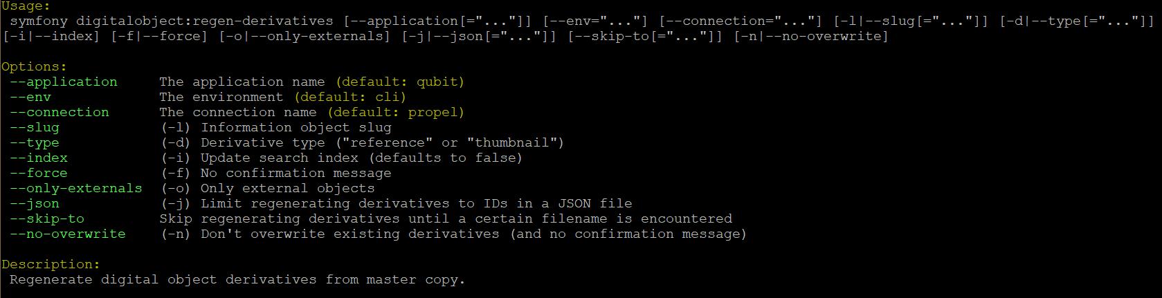 Command line tools | Documentation (Version 2 4) | AtoM
