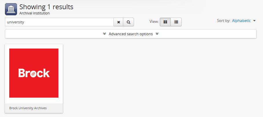 Search   Documentação (Version 2 5)   AtoM: Open Source